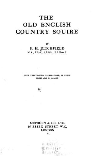 Download The old English country squire