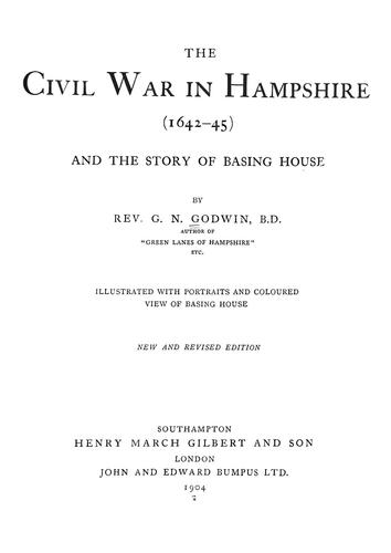 Download The civil war in Hampshire (1642-45)