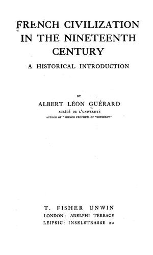 Download French civilization in the nineteenth century
