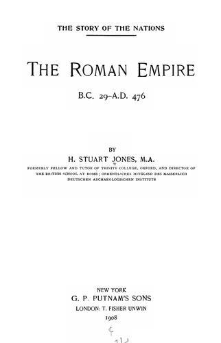 Download The Roman empire, B.C.29-A.D.476