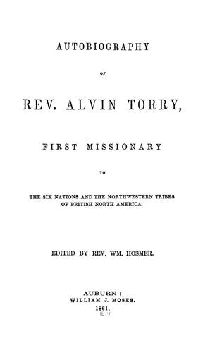 Download Autobiography of Rev. Alvin Torry