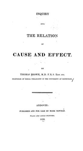 Download Inquiry into the relation of cause and effect.