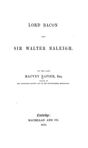 Download Lord Bacon and Sir Walter Raleigh.