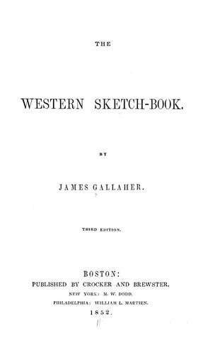 The western sketch-book.