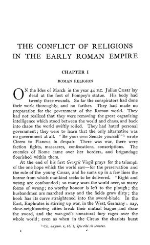 Download The conflict of religions in the early Roman empire