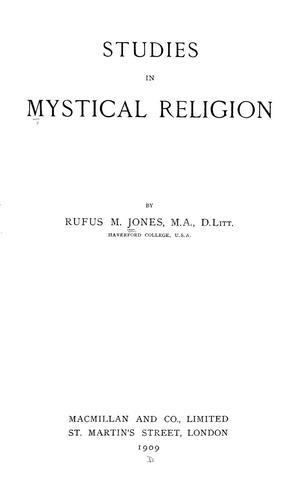 Studies in mystical religion