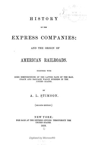 Download History of the express companies