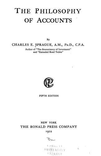 The philosophy of accounts