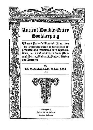 Download Ancient double-entry bookkeeping.
