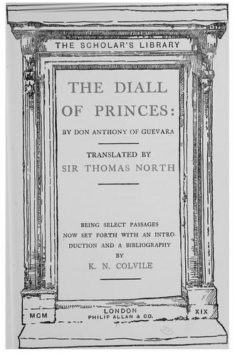 Download The diall of princes