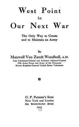 West Point in our next war