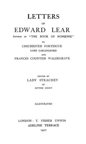 Letters of Edward Lear