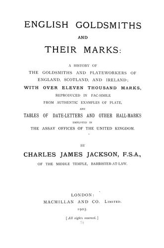 Download English goldsmiths and their marks