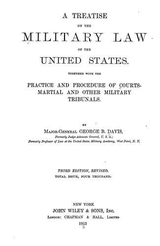 Download A treatise on the military law of the United States.