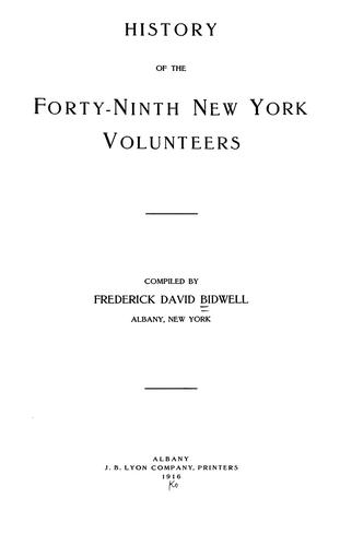 History of the Forty-ninth New York Volunteers.