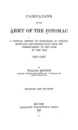 Download Campaigns of the Army of the Potomac