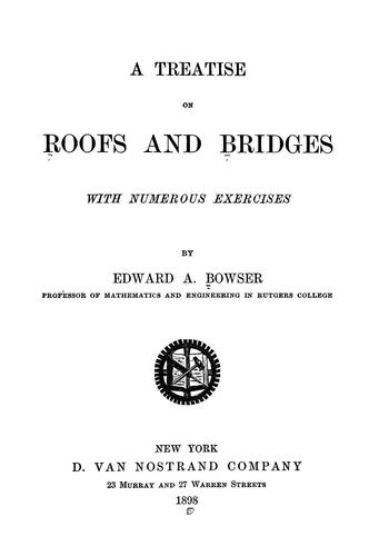 Download A treatise on roofs and bridges