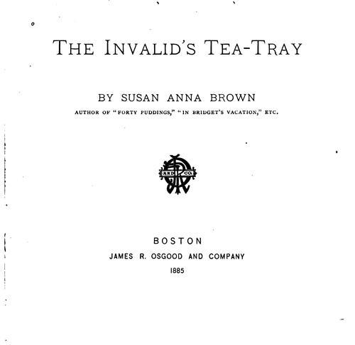 The Invalid's Tea-tray