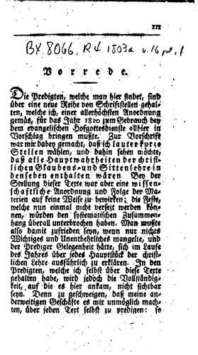 Predigten bey dem Churfürstl: Sächsischen evangelischen Hofgottesdienste zu …