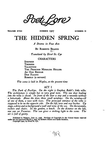 The Hidden Spring: A Drama in Four Acts
