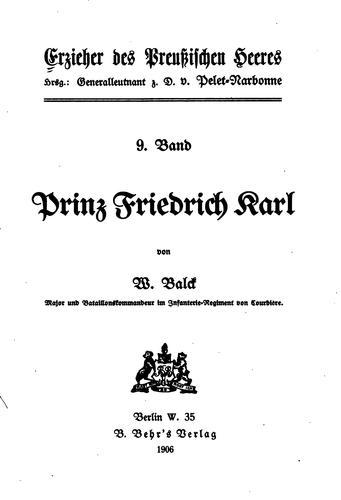 Erzieher des Preussischen Heeres