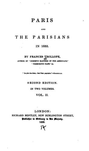 Paris and the Parisians in 1835 i.e. Eighteen Thirty-five.