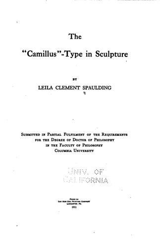 """The """"camillus""""-type in Sculpture"""