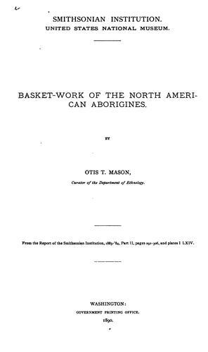 Basket-work of the North American Aborigines