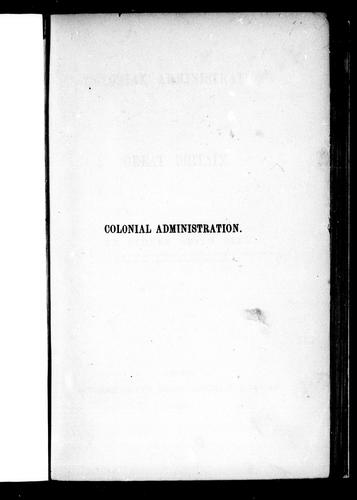 Download Colonial administration of Great Britain