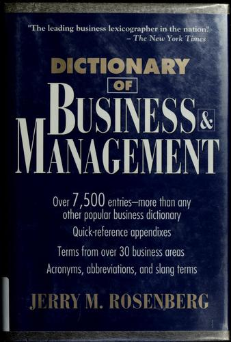 Download Dictionary of business and management