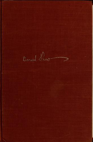 Complete plays by George Bernard Shaw