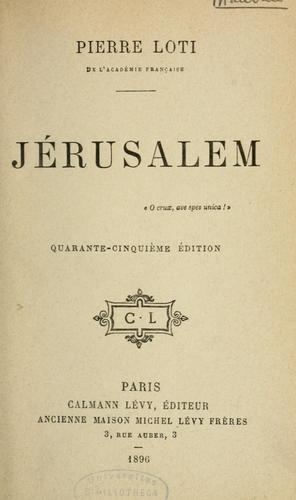 Jérusalem …