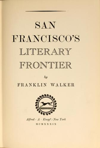 Download San Francisco's literary frontier