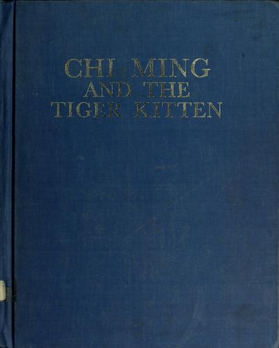 Chi Ming and the tiger kitten.