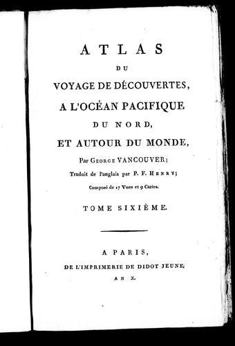 Download Atlas du voyage de découvertes, a l'océan Pacifique du nord, et autour du monde