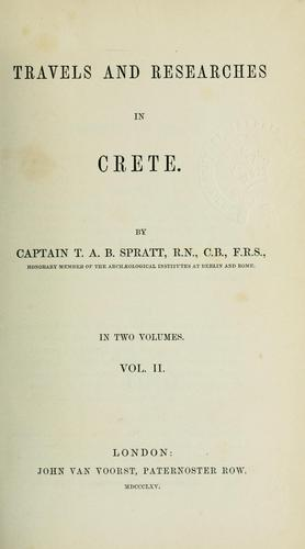 Download Travels and Researches in Crete. In Two Volumes. Vol. II.