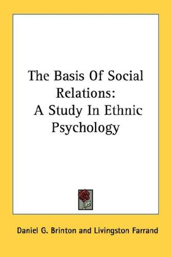 Download The Basis Of Social Relations