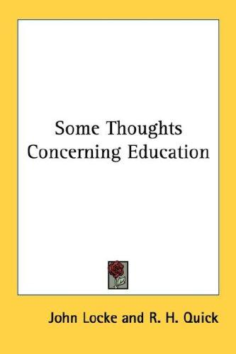 Download Some Thoughts Concerning Education