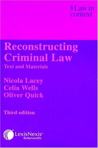 Reconstructing criminal law