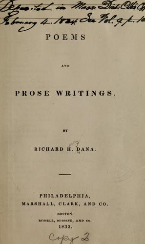 Poems and prose writings.