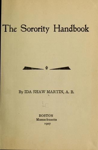 The sorority handbook