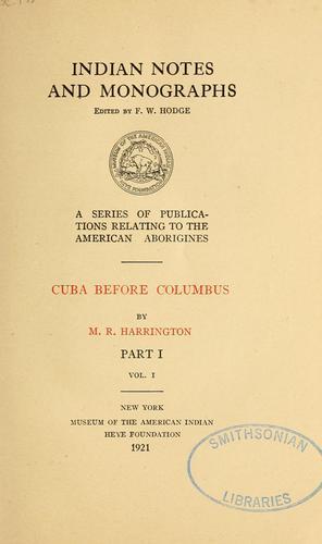 Download Cuba before Columbus