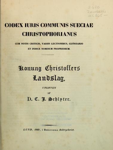Codex iuris communis Sueciae Christophorianus