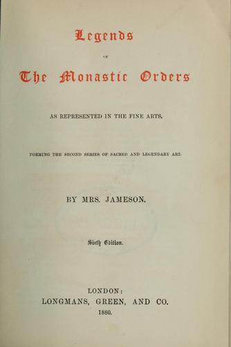 Download Legends of the monastic orders