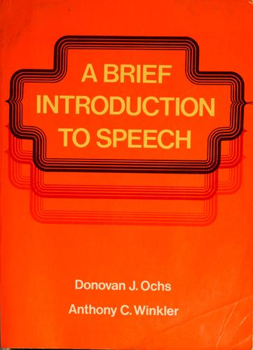 A brief introduction to speech