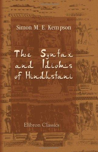 Download The Syntax and Idioms of Hindustani