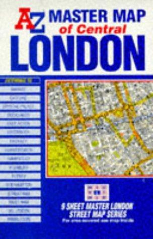 9 Sheet Master Plan of London (London Street Maps)