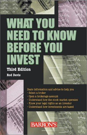 Download What You Need to Know Before You Invest