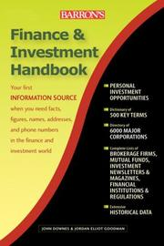 Barron's Finance and Investment Handbook, 7th Edition by Downes, John
