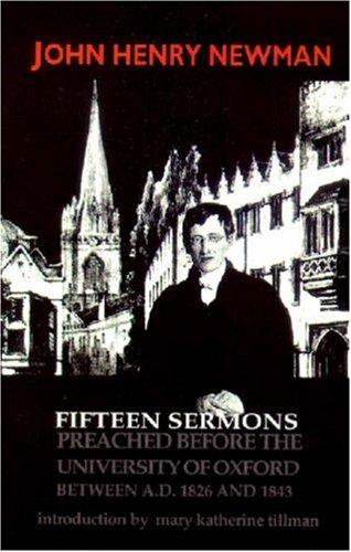 Download Fifteen sermons preached before the University of Oxford between A.D. 1826 and 1843